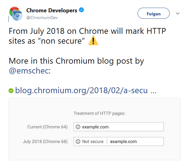 Chrome Browser 68