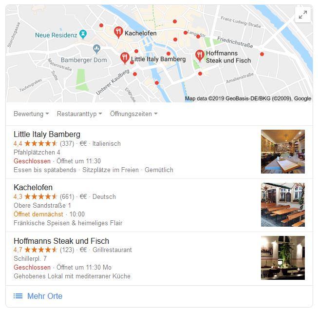 serp restaurant bamberg - Local SEO-Trends 2019 – darauf solltest Du achten
